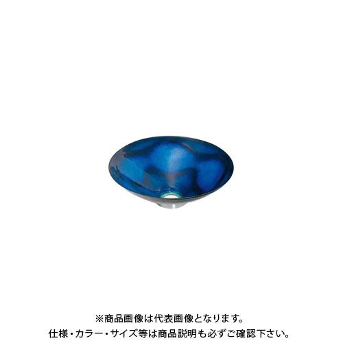 カクダイ 丸型手洗器/紺透 493-047-B