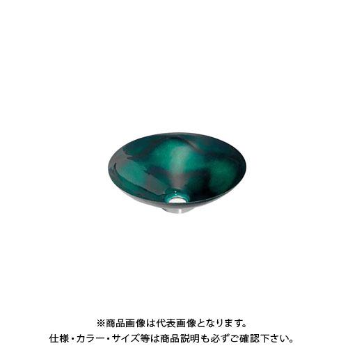 カクダイ 丸型手洗器/緑透 493-047-GR