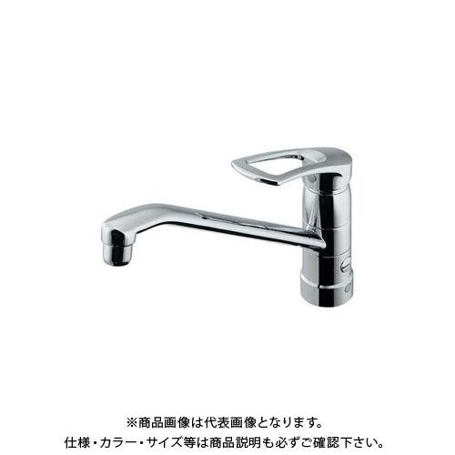 カクダイ シングルレバー混合栓分水孔付 117-061K