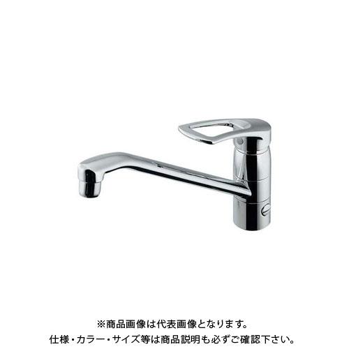カクダイ シングルレバー混合栓 分水孔付 117-063