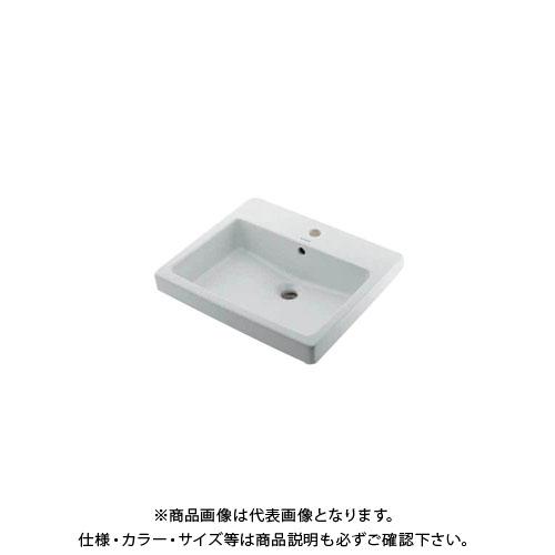 【12/5限定 ストアポイント5倍】カクダイ 角型洗面器/1ホール DU-0315550000