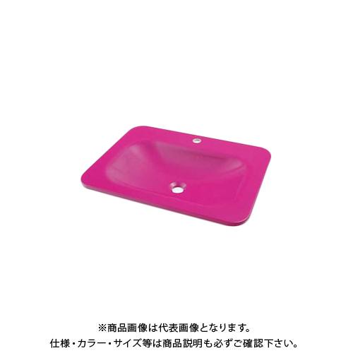 カクダイ 角型洗面器パープルピンク MR-493220P