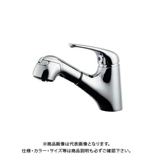 【12/5限定 ストアポイント5倍】カクダイ シングルレバー引出し混合栓 184-022K