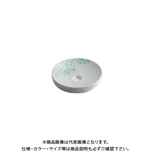 カクダイ 丸型手洗器/ペパーミント 493-097-GR
