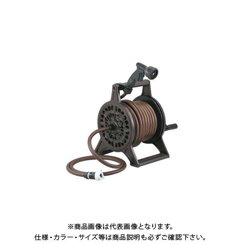 【12/5限定 ストアポイント5倍】カクダイ レトロホースリール/ブラウン 553-802