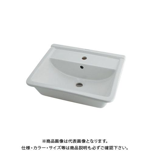 【12/5限定 ストアポイント5倍】カクダイ 角型洗面器 1ホール DU-0302560000