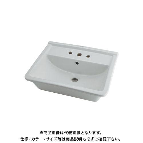 【12/5限定 ストアポイント5倍】カクダイ 角型洗面器 3ホール DU-0302560030