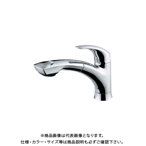 【12/5限定 ストアポイント5倍】カクダイ シングルレバー引出混合栓 118-003