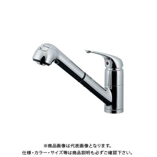 【12/5限定 ストアポイント5倍】カクダイ シングルレバー引出混合栓 118-049