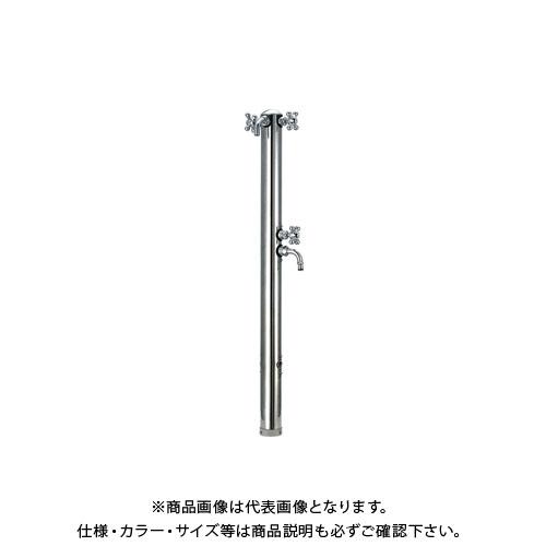 カクダイ ステンレス双口混合栓柱 624-204