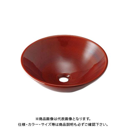 【12/5限定 ストアポイント5倍】カクダイ 丸型手洗器/飴 493-046-BR