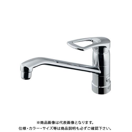 カクダイ シングルレバー混合栓 分水孔付 117-061