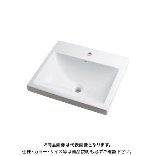 【12/5限定 ストアポイント5倍】カクダイ 角型洗面器/1ホール 493-003