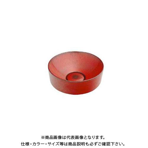 【12/5限定 ストアポイント5倍】カクダイ 丸型手洗器/鉄赤 493-023-R