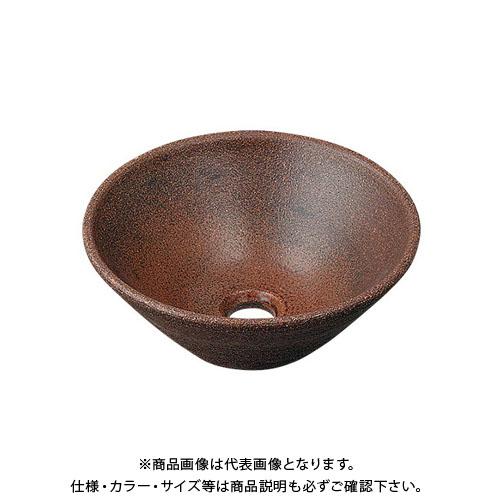 カクダイ 丸型手洗器/窯肌 493-011-M
