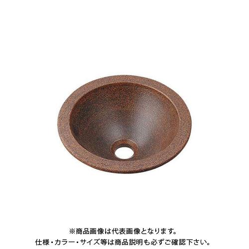 【12/5限定 ストアポイント5倍】カクダイ 丸型手洗器/窯肌 493-013-M