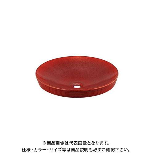 【12/5限定 ストアポイント5倍】カクダイ 丸型洗面器/鉄赤 493-014-R