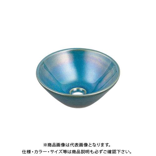 カクダイ 丸型手洗器/孔雀 493-011-CB