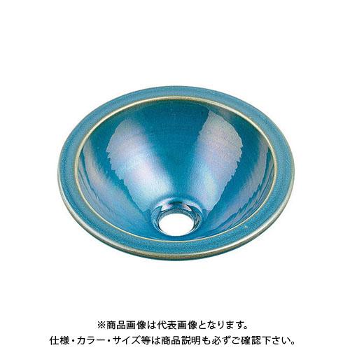 【12/5限定 ストアポイント5倍】カクダイ 丸型手洗器/孔雀 493-013-CB