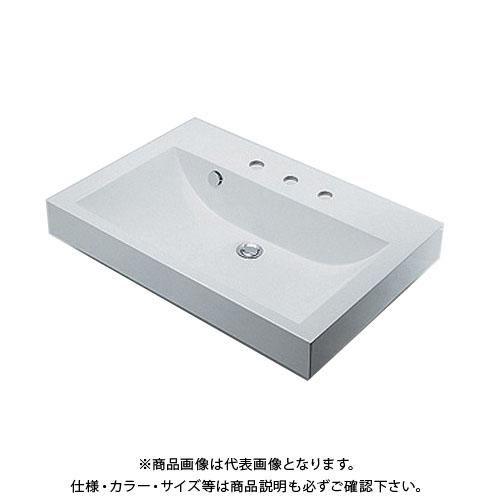 カクダイ 角型洗面器/3ホール 493-071-750