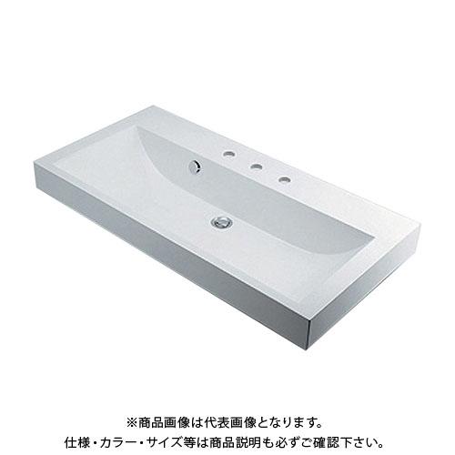 カクダイ 角型洗面器/3ホール 493-071-1000