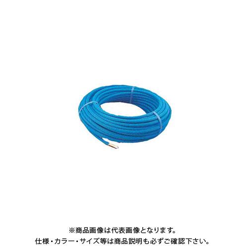 カクダイ 保温材つき架橋ポリエチレン管(青) 50m 672-111-50B
