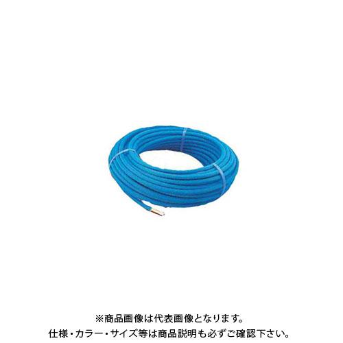 カクダイ 保温材つき架橋ポリエチレン管(青) 50m 672-112-50B