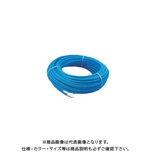 【12/5限定 ストアポイント5倍】カクダイ 保温材つき架橋ポリエチレン管(青) 50m 672-113-50B