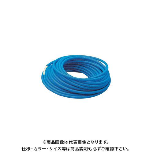 カクダイ サヤ管つき架橋ポリエチレン管(青) 672-133-30B