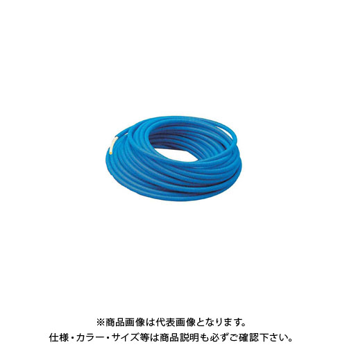 カクダイ サヤ管つき架橋ポリエチレン管(青) 672-134-30B