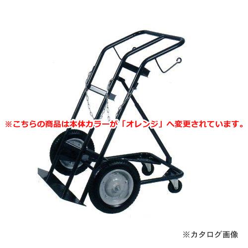 【直送品】ハマコ HAMACO ボンベ台車/4輪車 酸素・アセチレンボンベ用 BC-04