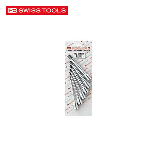 PBスイスツールズ V10-211/SETCN .3/8SQ ロングヘキサゴンソケットセット