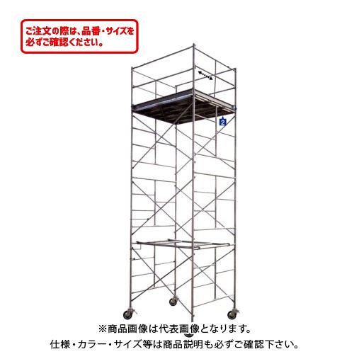 【運賃見積り】【直送品】ハセガワ 長谷川工業 高所作業台 BM 鋼製ローリングタワー BM-2段 10803