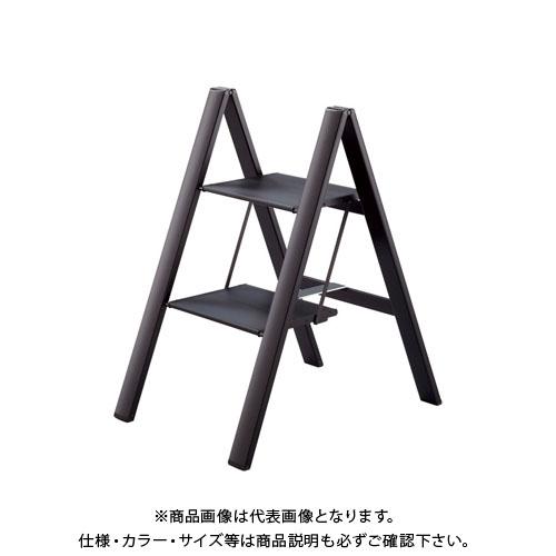 【個別送料1000円】【直送品】ハセガワ 長谷川工業 踏台 スリムステップ ブラック SJ-2d(BK) 17406