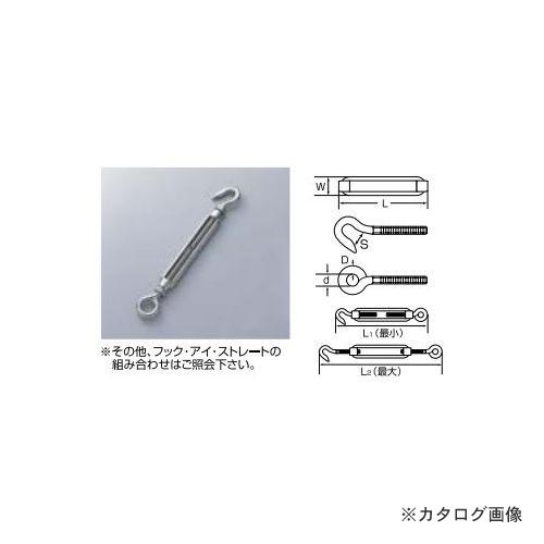 ひめじや HIMEJIYA 枠式ターンバックル(フック&アイ) 10入 TB-10HE