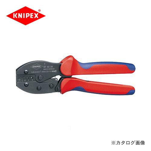 クニペックス KNIPEX 97クリンピングプライヤー 9752-38
