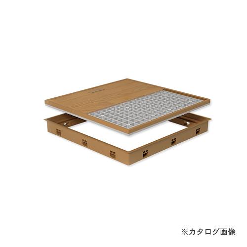 城東テクノ Joto 高気密型床下点検口 (標準型450×600mm) フローリング12mm対応 ダークブラウン (1セット) SPF-R4560F12-DB