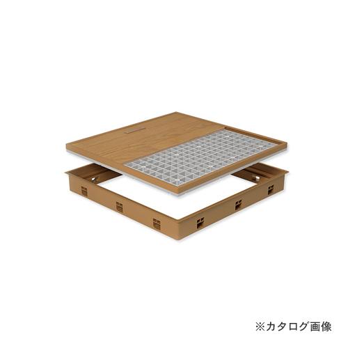 城東テクノ Joto 高気密型床下点検口 (標準型450×600mm) フローリング15mm対応 ダークブラウン (1セット) SPF-R4560F15-DB