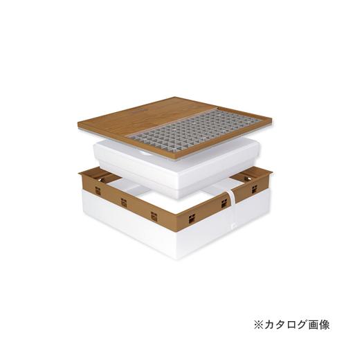 城東テクノ Joto 高気密型床下点検口 (寒冷地高断熱型450×600mm) クッションフロア対応 ミディアムブラウン (1セット) SPF-R45C-BL3-MB