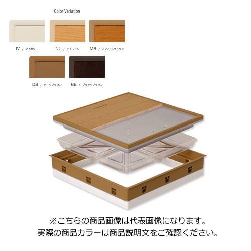 城東テクノ Joto 高気密型床下点検口 (断熱型450×600mm) フローリング15mm対応 ダークブラウン (1セット) SPF-R45F15-UA1-DB