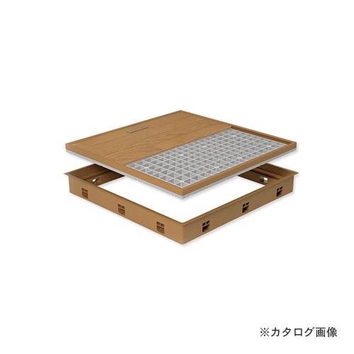 城東テクノ Joto 高気密型床下点検口 (標準型600×600mm) フローリング15mm対応 ダークブラウン (1セット) SPF-R6060F15-DB