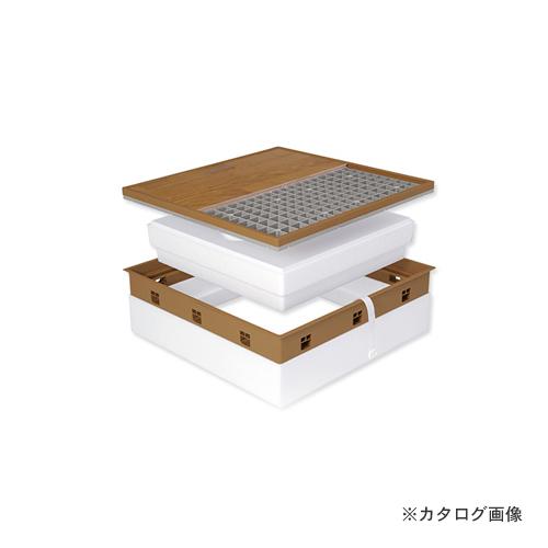 城東テクノ Joto 高気密型床下点検口 (寒冷地高断熱型600×600mm) クッションフロア対応 ミディアムブラウン (1セット) SPF-R60C-BL3-MB