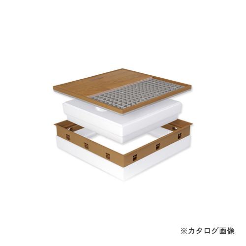城東テクノ Joto 高気密型床下点検口 (高断熱型600×600mm) フローリング12mm対応 ミディアムブラウン (1セット) SPF-R60F12-BL2-MB