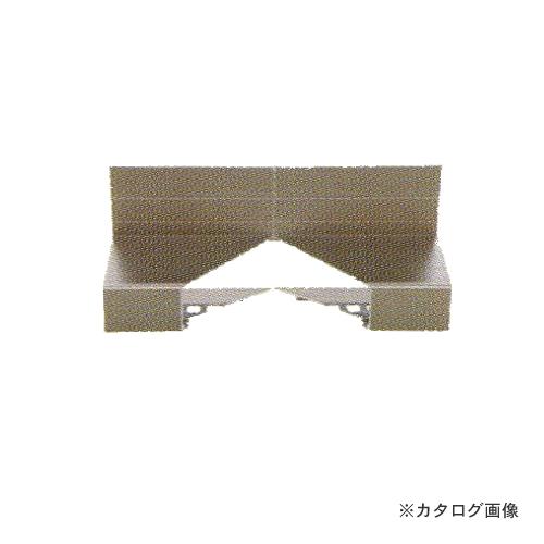 城東テクノ Joto 防鼠付通気水切り Vカット入隅(アルミ製) ブラック (10コ) WKA-2207-BK