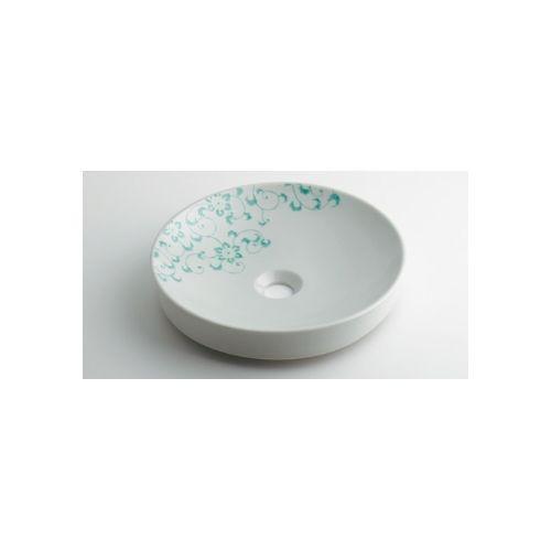 カクダイ KAKUDAI 丸型手洗器//ペパーミント 493-097-GR