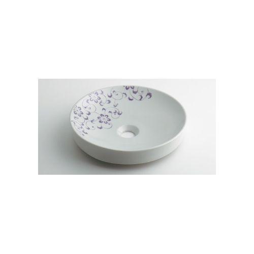 カクダイ KAKUDAI 丸型手洗器//ラベンダー 493-097-PU