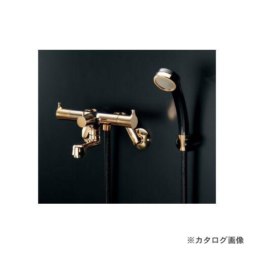 カクダイ KAKUDAI 2ハンドルシャワー混合栓(一時止水・クリアブラス) (旧品番:139-021K) 139-020K-CG