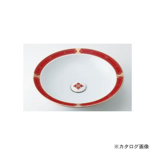 カクダイ KAKUDAI 丸型洗面器//ルビー 493-055-R