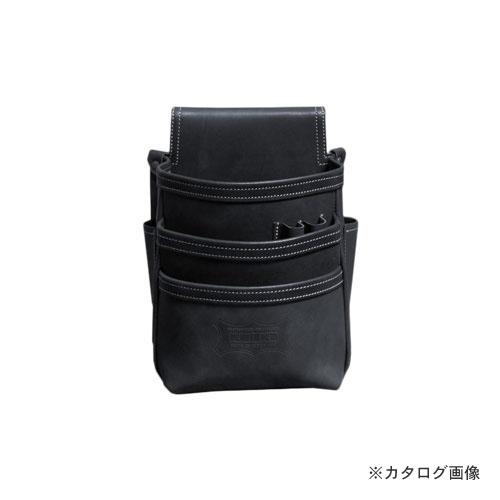 ニックス KNICKS KBS-301DD 総ヌメ革使用3段腰袋 ブラック