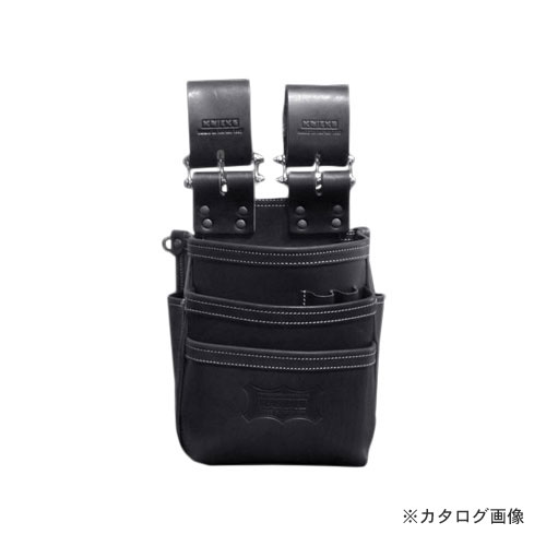 【欠品中2月中旬予定】ニックス KNICKS KBS-301DDX 総ヌメ革使用3段腰袋 ブラック